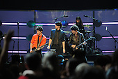 Washington, DC - January 19, 2009 -- The Jonas Brothers perform at the ?Kids Inaugural: We Are the Future? concert at the Verizon Center in downtown Washington, D.C., Monday, January 19, 2009.  Michelle Obama, wife of President-elect Barack Obama, along with daughters Malia and Sasha, were in attendance.  .Credit: Mark O'Donald - DoD via CNP