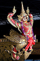 Garuda figurehead at the Royal Barge Museum in Bangkok, Thailand