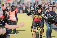 Philippe Gilbert (BEL/Quick Step floors) greeting the fans on his way to the (new) race start in Antwerpen<br /> <br /> 101th Ronde Van Vlaanderen 2017 (1.UWT)<br /> 1day race: Antwerp &rsaquo; Oudenaarde - BEL (260km)
