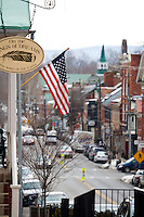 Main Street USA Architecture.Shepardstown West Virginia