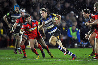 Max Clark of Bath United goes on the attack. Aviva A-League match, between Bath United and Bristol United on December 28, 2015 at the Recreation Ground in Bath, England. Photo by: Patrick Khachfe / Onside Images