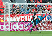 06 October 2012: D.C. United goalkeeper Bill Hamid #28 makes a save during an MLS game between DC United and Toronto FC at BMO Field in Toronto, Ontario Canada. .D.C. United won 1-0..