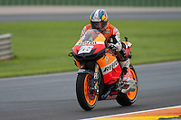 Dani Pedrosa training laps in Cheste, MotoGP 2012