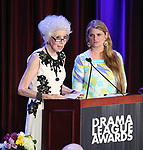 Jano Herbosch and Bonnie Comley with the nominees on stage at the 83rd Annual Drama League Awards Ceremony  at Marriott Marquis Times Square on May 19, 2017 in New York City.