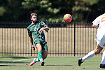 20 September 2015: Stetson's Trent Austin. The Campbell University Camels hosted the Stetson University Hatters at Eakes Athletics Complex in Buies Creek, NC in a 2015 NCAA Division I Men's Soccer game. Campbell won the game 1-0.