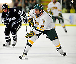 6 December 2009: University of Vermont Catamount forward Brian Roloff, a Senior from West Seneca, NY, in action against the University of New Hampshire Wildcats at Gutterson Fieldhouse in Burlington, Vermont. The Wildcats defeated the Catamounts 5-2 in the Hockey East matchup. Mandatory Credit: Ed Wolfstein Photo