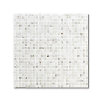 1 cm Grid  shown in polished Calacatta Radiance is part of New Ravenna's Studio Line. All mosaics in this collection are ready to ship within 48 hours.<br />