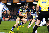 Charlie Ewels of Bath Rugby in possession. Aviva Premiership match, between Bath Rugby and Newcastle Falcons on March 18, 2016 at the Recreation Ground in Bath, England. Photo by: Patrick Khachfe / Onside Images