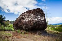 The Pohaku Kani Bellstone along Kahekili Highway, West Maui.