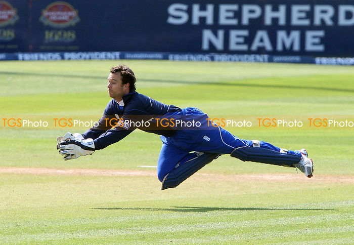 James Foster of Essex takes a flying catch to dismiss David Willey of Northants - Essex Eagles v Northants Steelbacks, Friends Provident Trophy Group D at Chelmsford, Essex - 19/04/09 - MANDATORY CREDIT: Rob Newell/TGSPHOTO - Self billing applies where appropriate - 0845 094 6026 - contact@tgsphoto.co.uk - NO UNPAID USE.