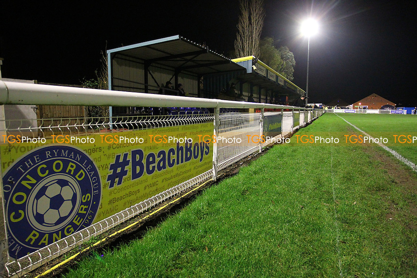 General view of the ground - Concord Rangers vs Mansfield Town - FA Challenge Cup 1st Round Replay Football at the Aspect Arena, Thames Road, Canvey Island, Essex - 25/11/14 - MANDATORY CREDIT: Gavin Ellis/TGSPHOTO - Self billing applies where appropriate - contact@tgsphoto.co.uk - NO UNPAID USE