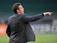 D.C. United Head Coach Ben Olsen. The Philadelphia Union defeated D.C. United 3-2, at RFK Stadium, Sunday April 21, 2013.