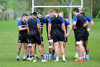 George Ford of Bath Rugby speaks to his team-mates. Bath Rugby training session on May 3, 2016 at Farleigh House in Bath, England. Photo by: Patrick Khachfe / Onside Images