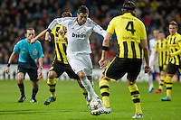 Cristiano Ronaldo try to dribble the defender of Borussia Dortmund