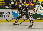 29 December 2014: Providence College Friar Forward Trevor Mingoia, a Junior from Fairport, NY, in first period action against the University of Vermont Catamounts during the deciding game of the annual TD Bank-Sheraton Catamount Cup Tournament at Gutterson Fieldhouse in Burlington, Vermont. The Friars shut out the Catamounts 3-0 to win the 2014 Cup. Mandatory Credit: Ed Wolfstein Photo *** RAW (NEF) Image File Available ***
