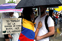 Medellin, Colombia - OCTOBER 07 : People take part in a march supporting the peace process in Medellin, Colombia, October 7, 2016. VIEWPRESS/Fredy Builes