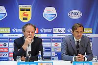 VOETBAL: LEEUWARDEN: 12-09-2015, SC Cambuur - PSV, uitslag 0-6, trainers/coaches Henk de Jong (Cambuur) en Phillip Cocu (PSV), ©foto Martin de Jong
