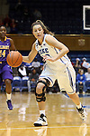 19 December 2013: Duke's Haley Peters. The Duke University Blue Devils played the University at Albany, The State University of New York Great Danes at Cameron Indoor Stadium in Durham, North Carolina in a 2013-14 NCAA Division I Women's Basketball game. Duke won the game 80-51.