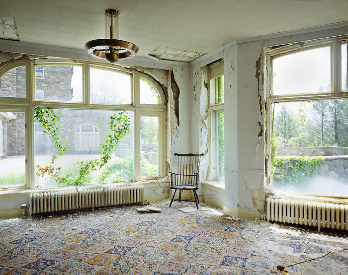 Interior View of A Room in the Abandoned Buck Hill Falls Inn.