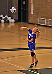 28 October 2012: Yeshiva University Maccabee Julia Packer, a Sophomore from Newton, MA, in action against the Old Westbury Panthers at SUNY Old Westbury in Old Westbury, NY. The Panthers defeated the Maccabees 3-0 in NCAA women's volleyball play. Mandatory Credit: Ed Wolfstein Photo