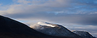 Scenic mountain view from Alesjaure, Kungsleden trail, Lapland, Sweden