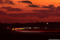 Spectacular sunset skies are not uncommon at Daytona, this one coming during night practice for the 1983 race.