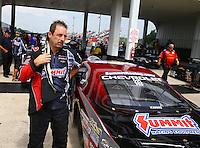 May 17, 2015; Commerce, GA, USA; NHRA pro stock driver Greg Anderson during the Southern Nationals at Atlanta Dragway. Mandatory Credit: Mark J. Rebilas-USA TODAY Sports