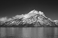 Grand Tetons - South Jackson Lake, WY - Infrared Black & White