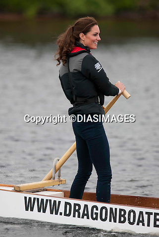 """PRINCE WILLIAM & KATE.compete in a Dragonboat race, Dalvey Lake, Dalvey-by-Sea, Prince Edward Island_04/07/2011.Mandatory Credit Photo: ©DIASIMAGES..**ALL FEES PAYABLE TO: """"NEWSPIX INTERNATIONAL""""**..No UK Usage until 30/07/2011.IMMEDIATE CONFIRMATION OF USAGE REQUIRED:.DiasImages, 31a Chinnery Hill, Bishop's Stortford, ENGLAND CM23 3PS.Tel:+441279 324672  ; Fax: +441279656877.Mobile:  07775681153.e-mail: info@newspixinternational.co.uk"""