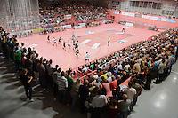 Handball 1. Bundesliga  2012/2013  in der Paul Horn Arena Tuebingen 15.09.2012 TV Neuhausen - Frisch Auf Goeppingen Hallenuebersicht der Paul Horn Arena