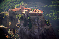 Kalambaka, Kastraki, Meteora, Greece, June 2006. Varlaam Monastery. The Monastaries of Meteora can be found high on the steepest rocks. Photo by Frits Meyst/Adventure4ever.com