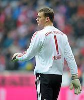 FUSSBALL   1. BUNDESLIGA  SAISON 2011/2012   19. Spieltag FC Bayern Muenchen - VfL Wolfsburg      28.01.2012 Torwart Manuel Neuer (FC Bayern Muenchen)