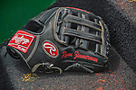 27 May 2013: Washington Nationals third baseman Ryan Zimmerman's Glove lies on the steps of the dugout prior to a game against the Baltimore Orioles at Nationals Park in Washington, DC. The Orioles defeated the Nationals 6-2, taking the Memorial Day, first game of their interleague series. Mandatory Credit: Ed Wolfstein Photo *** RAW (NEF) Image File Available ***