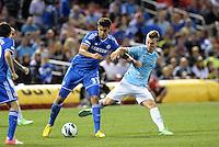 Ruben Loftus-Cheek Chelsea in action.Manchester City defeated Chelsea 4-3 in an international friendly at Busch Stadium, St Louis, Missouri.