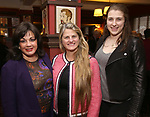 Charlotte St. Martin, Bonnie Comley and Leah Lane attend the The Robert Whitehead Award presented to Mike Isaacson at Sardi's on May 10, 2017 in New York City.