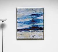 "Verbicky: Ritual 3, Digital Print, 46"" x 40"" x 1.75"", Silver Leaf Float Frame"