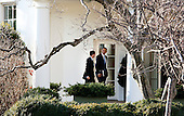 United States President Barack Obama returns to the White House with David Plouffe, a senior advisor, after a campaign event in Washington, D.C., U.S., on Friday, January 13, 2012. .Credit: Joshua Roberts / Pool via CNP