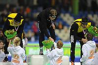 SCHAATSEN: HEERENVEEN: IJsstadion Thialf, 28-12-2014, NK Allround, Sven Kramer, Jorrit Bergsma, Wouter olde Heuvel, ©foto Martin de Jong
