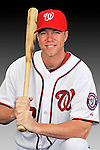 25 February 2011: Jeff Frazier poses for his Washington Nationals Photo Day portrait at Space Coast Stadium in Viera, Florida. Mandatory Credit: Ed Wolfstein Photo