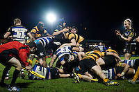 Aaron Carpenter of Bath United scores a try in the second half. Aviva A-League match, between Bath United and Wasps A on December 28, 2016 at the Recreation Ground in Bath, England. Photo by: Patrick Khachfe / Onside Images