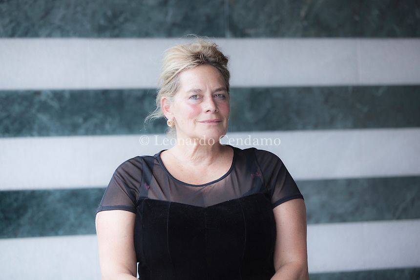 Deborah Levy was born 1959 in South Africa. She is a British playwright, novelist, and poet. Her work has been staged by the Royal Shakespeare Company and she is the author of novels including Beautiful Mutants, Swallowing Geography, and Billy and Girl. Pordenone, 17 settembre 2014. © Leonardo Cendamo