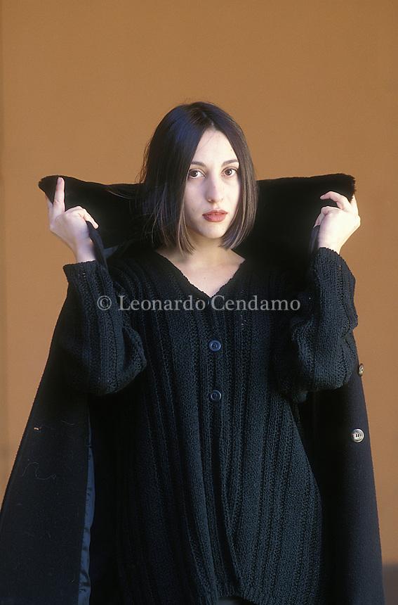 Bologna, Italy, 1999. Simona Vinci Italian writer. © Leonardo Cendamo