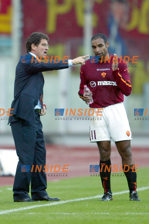 Roma 30/11/2003 <br /> Roma Lecce 3-1<br /> Fabio Capello (Roma) e Emerson<br /> Foto Andrea Staccioli Insidefoto