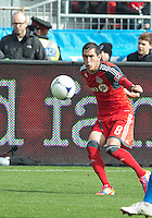 20 October 2012: Toronto FC midfielder Eric Avila #8 in action during an MLS game between the Montreal Impact and Toronto FC at BMO Field in Toronto, Ontario..The game ended in a 0-0 draw..