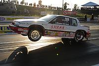 May 18, 2012; Topeka, KS, USA: NHRA super stock driver Pete Peery during qualifying for the Summer Nationals at Heartland Park Topeka. Mandatory Credit: Mark J. Rebilas-