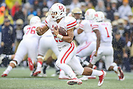 Annapolis, MD - October 8, 2016: Houston Cougars running back Dillon Birden (25) runs the ball during game between Houston and Navy at  Navy-Marine Corps Memorial Stadium in Annapolis, MD.   (Photo by Elliott Brown/Media Images International)