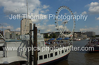 A London riverboat with the London Eye in the distance. <br /> <br /> <br /> Photo credit: Jeff Thomas - Jeff Thomas Photography - 07837 386244/07837 216676 - www.jaypics.photoshelter.com - thomastwotimes@live.co.uk