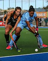 during the international hockey match between the Blacksticks Women and India, Rosa Birch Park, Pukekohe, New Zealand. Sunday 14  May 2017. Photo:Simon Watts / www.bwmedia.co.nz