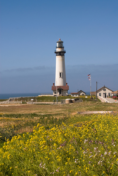 Pigeon Point Lighthouse, major example of  lighthouse architecture, now a Youth Hostel,.San Mateo Coast of California, south of San Francisco.  Photo copyright Lee Foster, 510-549-2202, lee@fostertravel.com, www.fostertravel.com.  Photo 481-31011