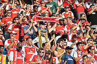 San Jose, CA - Thursday July 28, 2016: Arsenal FC fans during a Major League Soccer All-Star Game match between MLS All-Stars and Arsenal FC at Avaya Stadium.